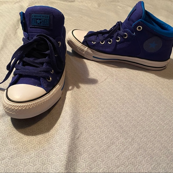 Converse blue men's size 6 worn twice